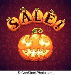 Halloween Pumpkin Sale Banner