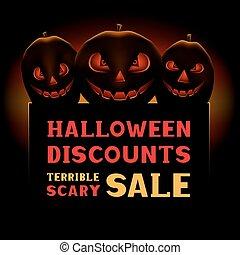 halloween pumpkin scary sale