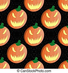 Halloween pumpkin seamless vector pattern background wallpaper