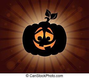 Halloween pumpkin silhouette topic 1