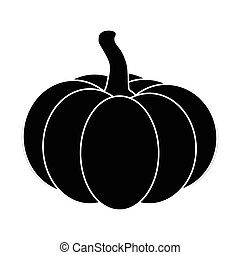 Halloween pumpkin silhouette vector illustration isolated on white background.