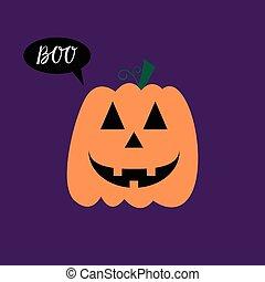 Halloween pumpkin smile - Halloween Poster with pumpkin...