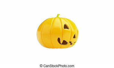 halloween pumpkin, spinning on its axis, HD 1920 x 1080...