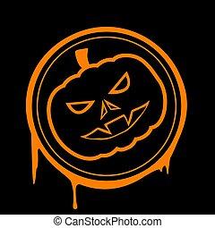 Halloween pumpkin. Stock illustration.