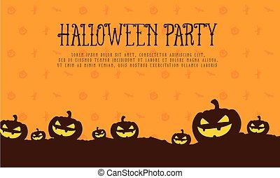 Halloween pumpkin style card