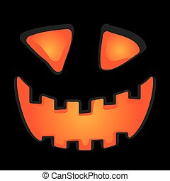 Halloween pumpkin vector background illustration.