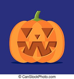 Halloween pumpkin. Vector illustration