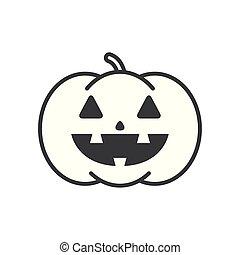 halloween pumpkin with face character
