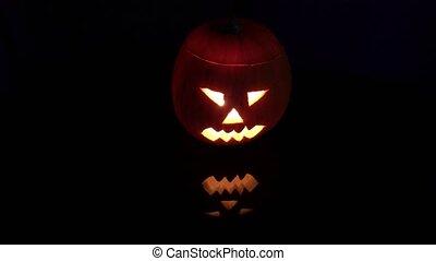 Halloween pumpkin with scary face - Halloween pumpkin jack o...