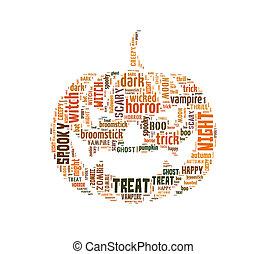 Halloween pumpkin word cloud