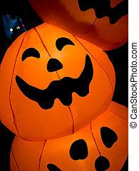 Halloween pumpkins abstract