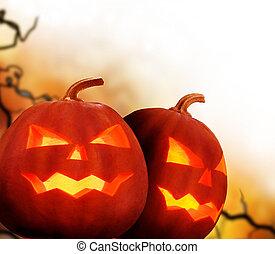 halloween, pumpkins., bordo, disegno