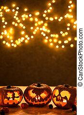 Halloween pumpkins jack-o-lantern - Halloween background