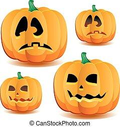 Halloween pumpkins set 2