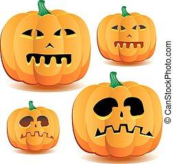 Halloween pumpkins set 3