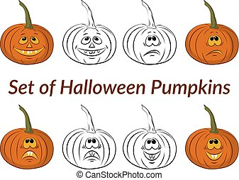 Halloween Pumpkins Set