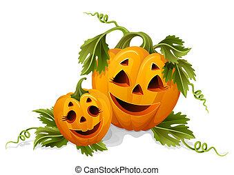 halloween, pumpkins