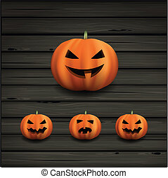 Halloween pumpkins - Vector illustration of halloween...