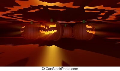Halloween Pumpkins VJ Loop