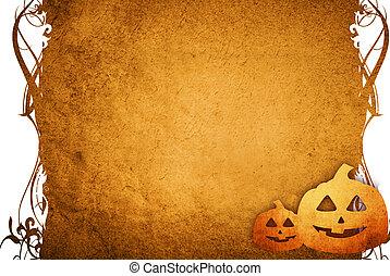 Halloween pumpkins with pumpkin friends