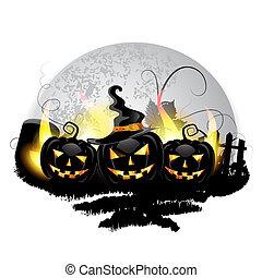halloween, pumpor