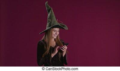 Halloween Purchase Presents on Smartphone
