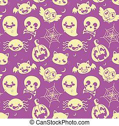 Halloween Purple Pattern