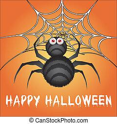 halloween, ragno, felice