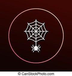 halloween, ragno, icona