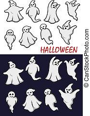 halloween, reizend, geister