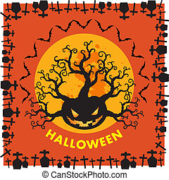Halloween RIP border ornage background - Halloween is a...
