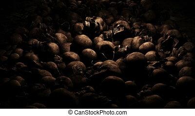 Halloween River Skull Background Cam1