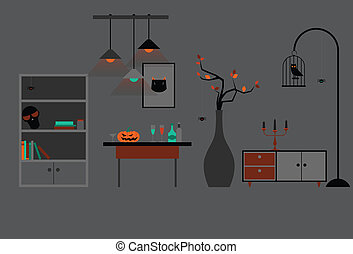 Halloween Room Decoration - Make a dark room spooky with...