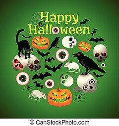 Halloween Round Design
