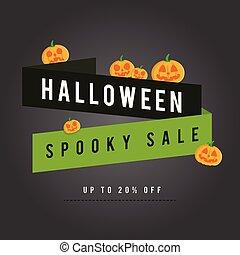 Halloween sale background with pumpskin