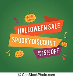 Halloween sale banner with pumpkins
