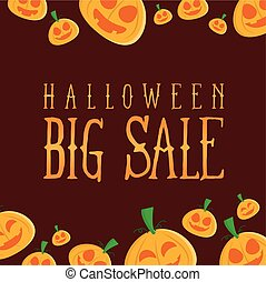 Halloween sale design background collection