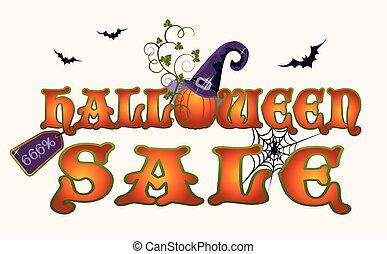 Halloween sale pumpkin banner