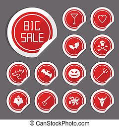 Halloween Sale Stickers