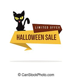 Halloween sale style with cat