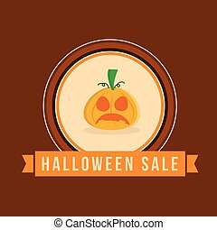 Halloween sale style with ghost pumpkin