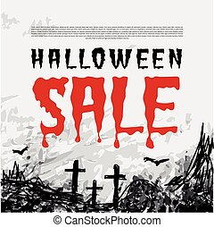 Halloween sale vector background