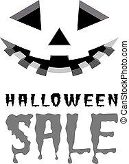 Halloween sale vector background