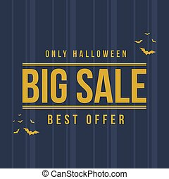 Halloween sale with pumpkin background