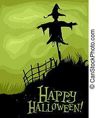 Halloween Scarecrow - Halloween Design Featuring the ...