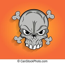 Halloween Scary Skull Vector