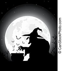 halloween scary witch of illustration.