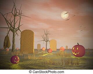 Halloween scenery - 3D render