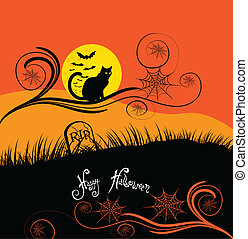 halloween, scheda, felice