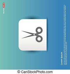 Halloween Scissors icon - Blue Sticker button